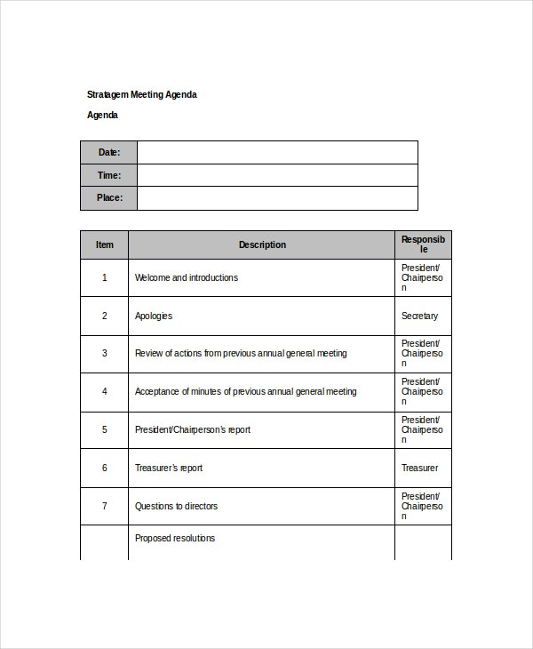 10+ Client Meeting Agenda Templates – Free Sample, Example Format