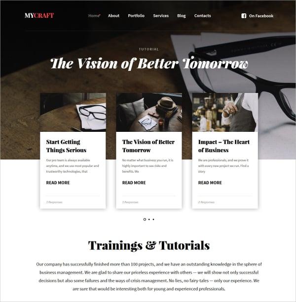 Responsive Portfolio WordPress Theme $75
