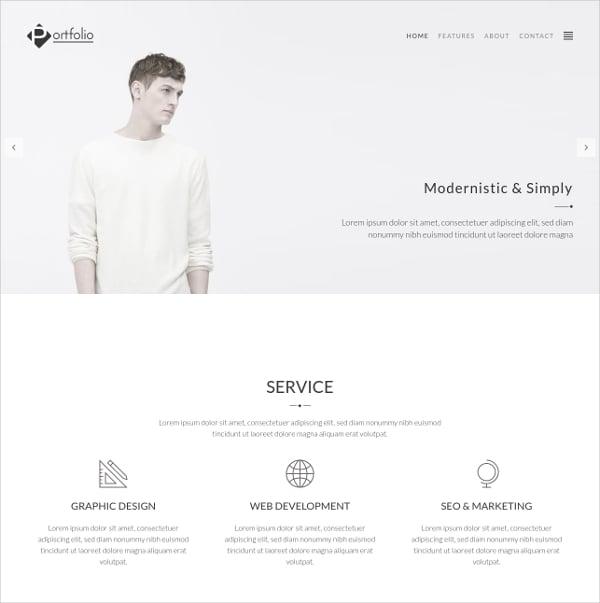 Photography Portfolio WordPress Website Theme $39