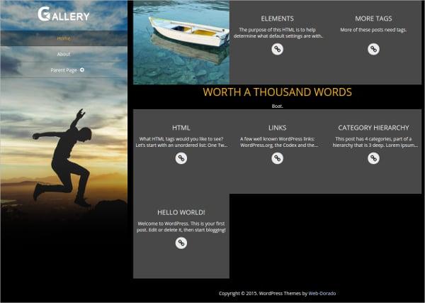 Portfolio Gallery Website Theme