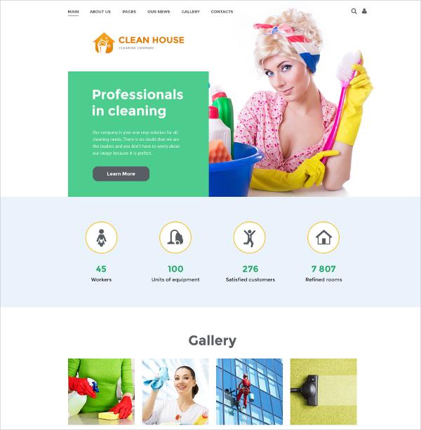 cleaning company joomla portfolio template 75