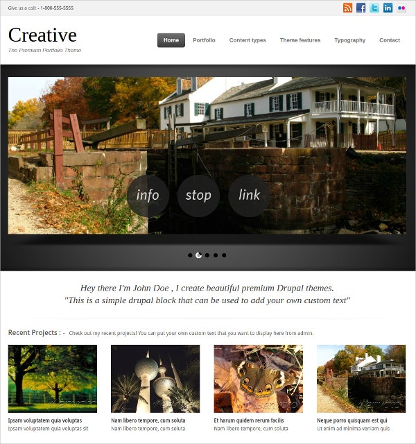 Premium Portfolio Website Theme $58