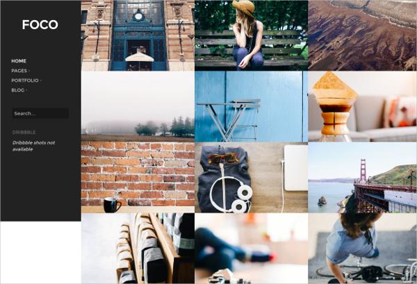 Minimal Portfolio Website WordPress Theme $39