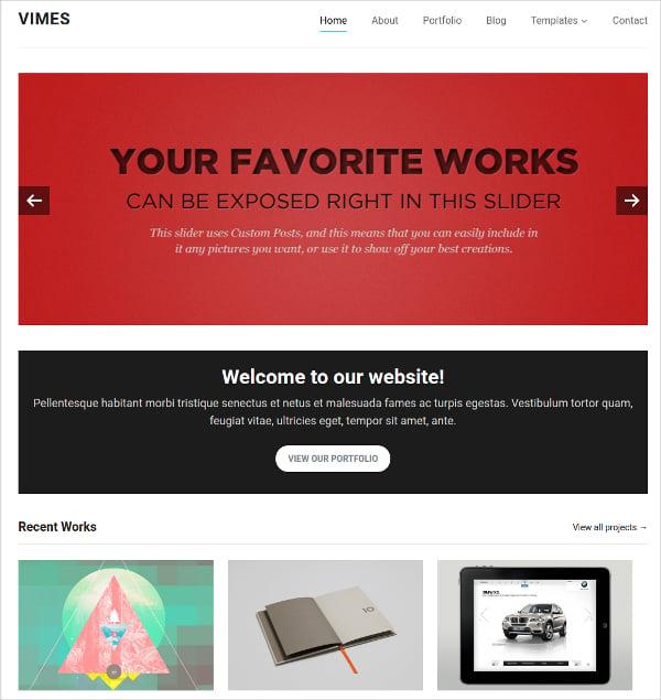 Elegant Portfolio WordPress Website Theme $59