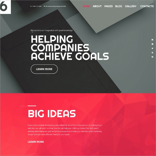 companies portfolio website theme 75