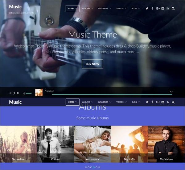 Music Portfolio Website Theme