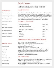 Entry Level Administrative Assistant Resume by Profession