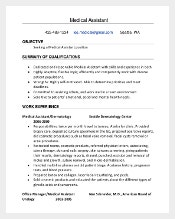 Certified Medical Assistant Resume PDF Template Free Download