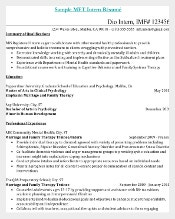 Internship Resume PDF Doc for Medical Assistant
