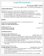Internship Resume PDF Doc for Medical Assistant