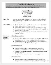 Senior Administrative Assistant Combination Resumes