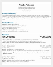 Senior Pediatric Medical Assistant Resume Template for Free