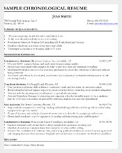Legal Administrative Assistant Chronological Resume