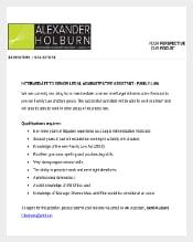 Senior Legal Administrative Assistant Resume