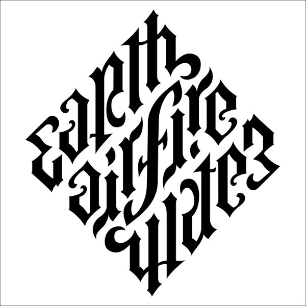 Earth Air Fire Water Ambigram Tattoo Design