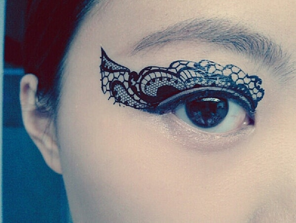 Flawless Permanent Around the Eye Tattoo Design