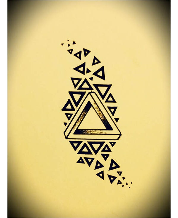 Penrose Triangle Tattoo Design