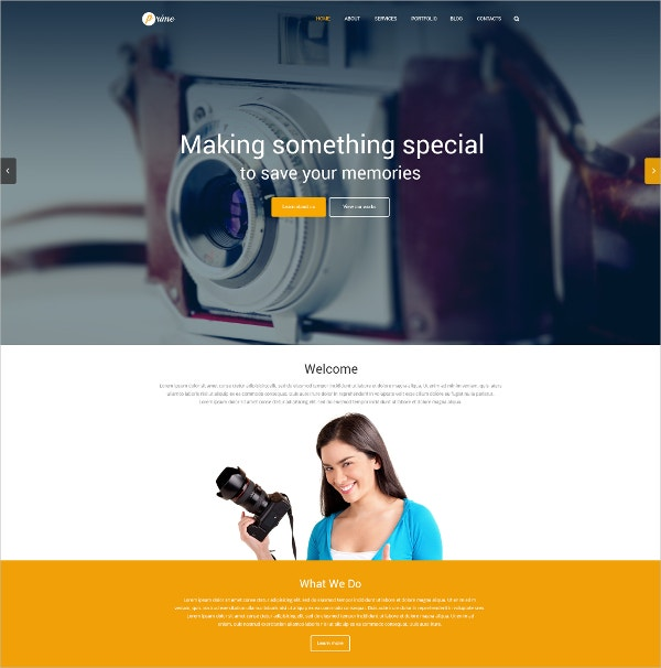 Professional Photographer Gallery WordPress Website Theme $79