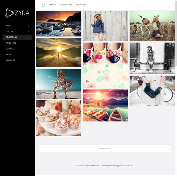 Fullscreen Photography Website Theme $59