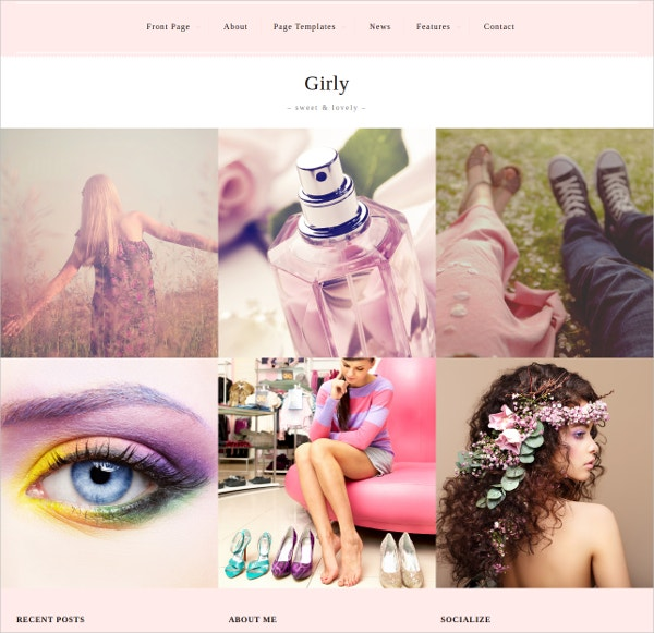 feminine photography wordpress website theme 60