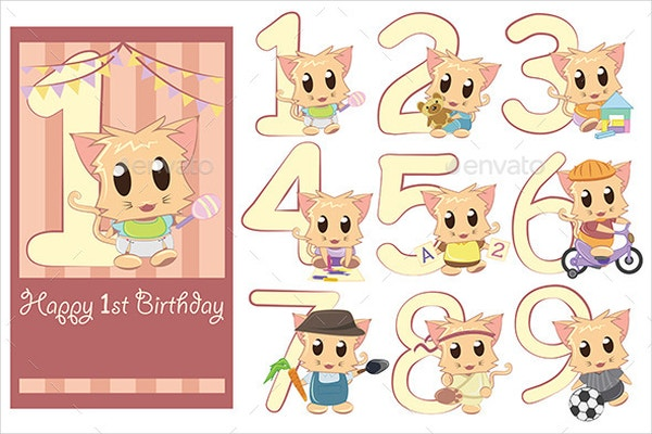 Cute Kids Birthday Template