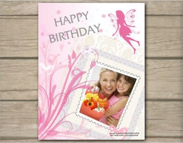fairy birthday card template