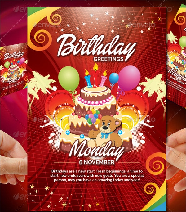 colorful birthday card template
