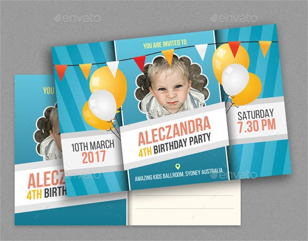 birthday post card template