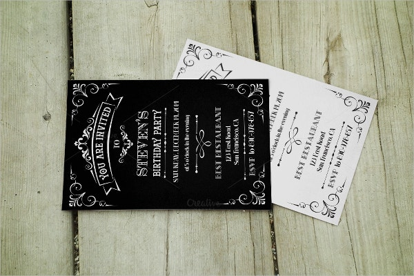 Vintage Birthday Party Template