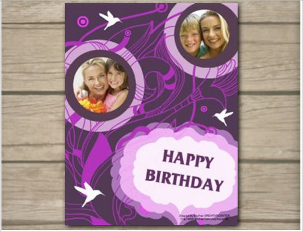 Cool Birthday Card Template