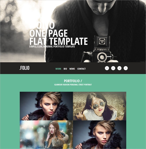 photographer portfolio website template1