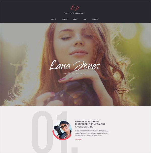 Beautiful Photographer Website Drupal Template $75