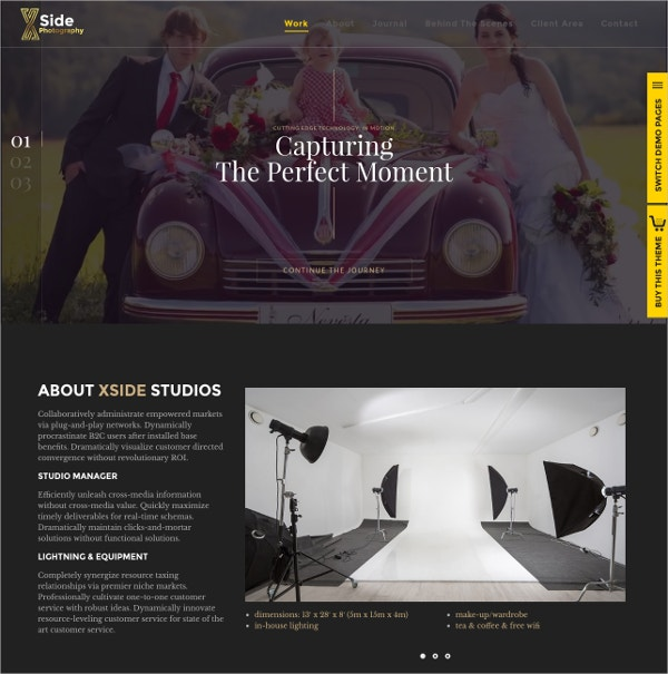 Personal Responsive Photography Website Theme $49