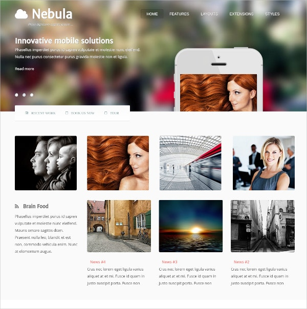 design photo joomla website theme