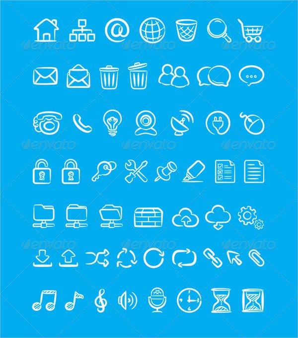 Doddle Style Web Icons