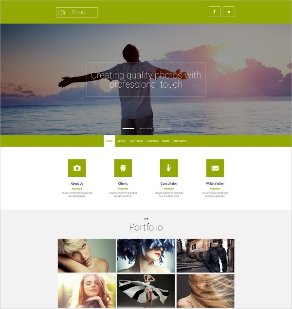 amazing photographer portfolio website template 199