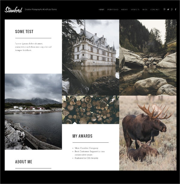 Creative Photography Portfolio Website Theme $49