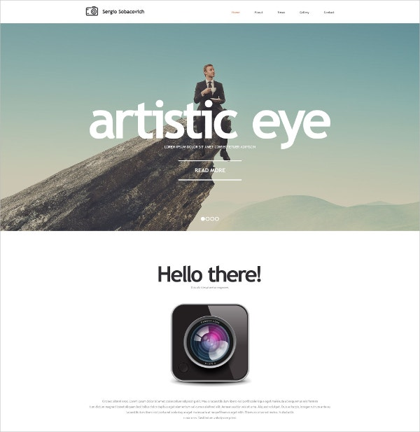 Unique Photographer Website Template $69