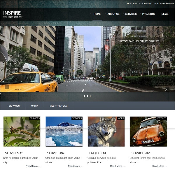 simple photo joomla website theme