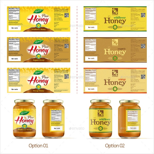 honey jar label template1