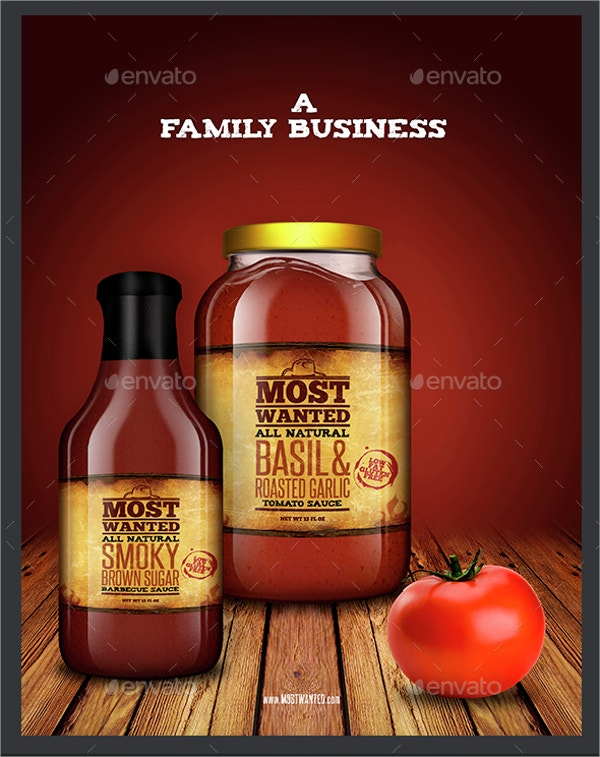 sauce jar label template