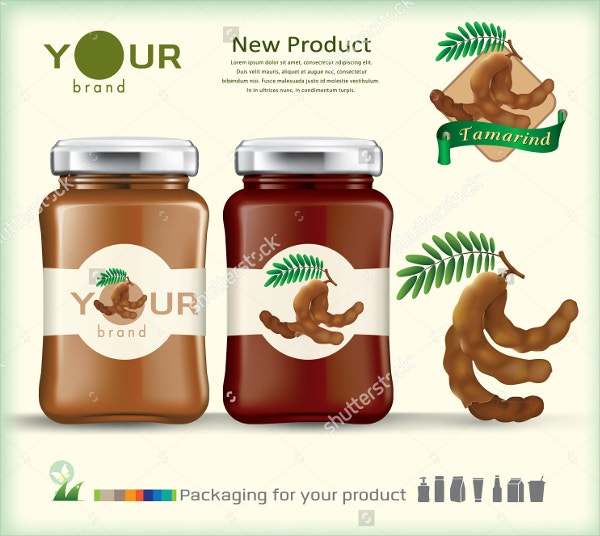 Fruit Jam Jar Label Template