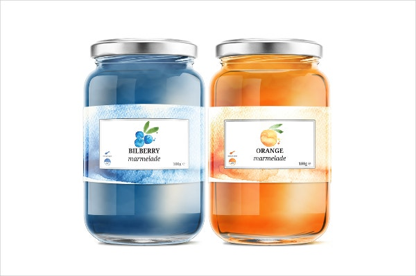 marmelade jar label template