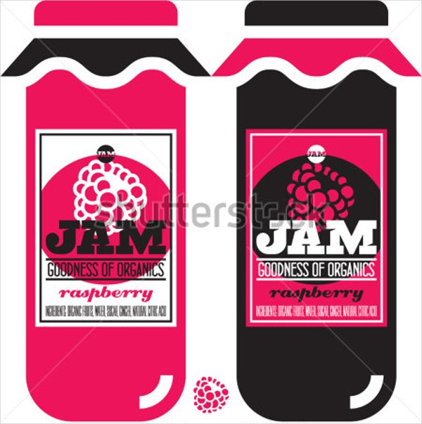 14 jar label templates free psd ai eps fotrmat for Jelly jar label template