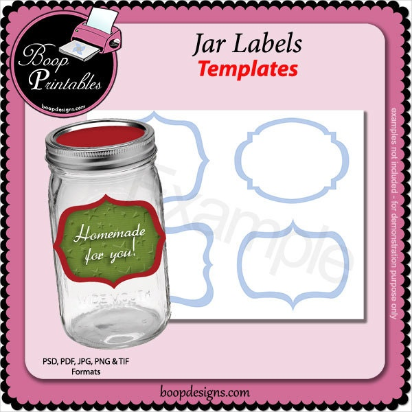 Jar Label Templates  Free Psd Ai Eps Fotrmat Download