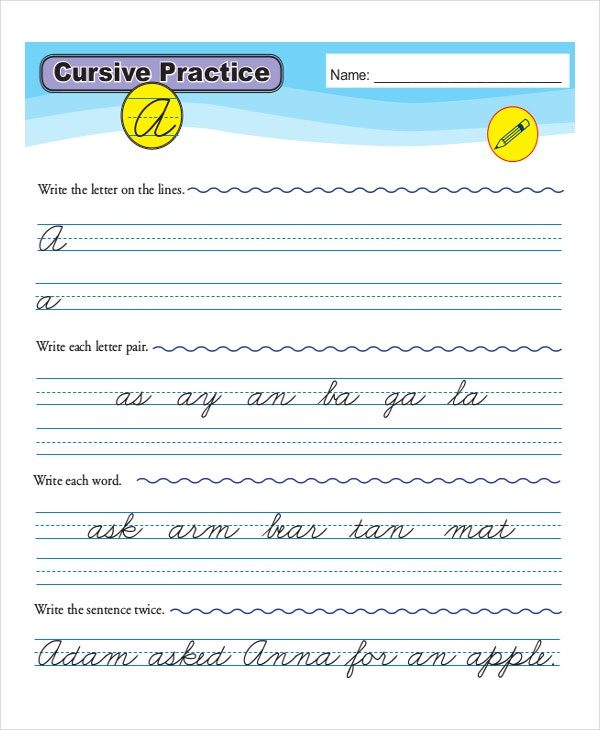 Cursive Writing Template