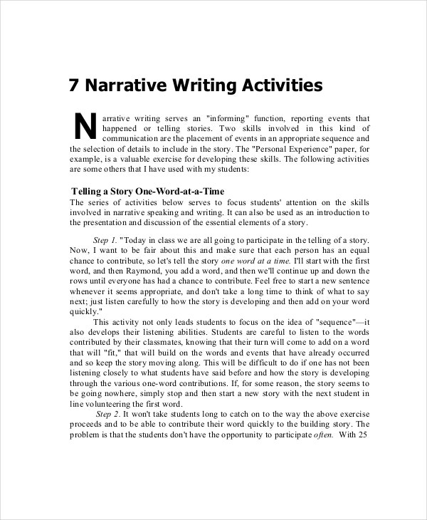 narrative essay pointers 5 tips for writing a good narrative essay the narrative essay makes it point by subtly guiding the reader, rather than battering them the way a rhetorical essay.