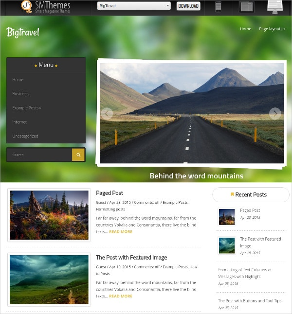 free big travel agency wordpress website theme