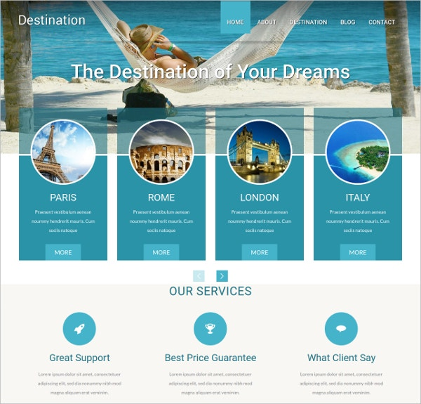 Travel Vacation WordPress Theme $49