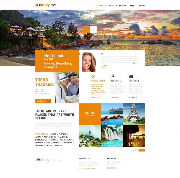 Dream Travel Club WordPress Theme $75